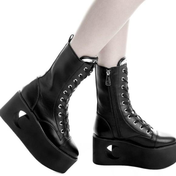 af449a19c948 Killstar Shoes - Killstar Eternal Eclipse platform boots goth punk